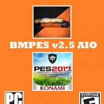 فروش پچ حجیم BMPES v2.5 AIO برای PES 2017 (دارای ۸۰ استادیوم)