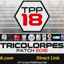 فروش پچ پچ حجیم TricolorPES v1 برای pes 2018 بهمراه آپدیت ۱٫۱